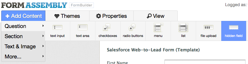 Use Salesforce + FormAssembly + CloudWok to receive forms and ...